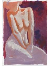 Sitting model nude