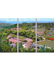 Top view in Gordes - Triptych