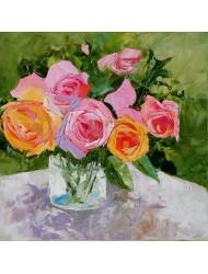 Trandafiri într-un vaz
