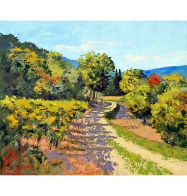 Promenade by the vineyard