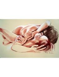 Paar Liegt nackt