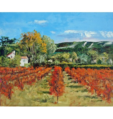 Farm and vineyard in October