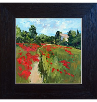 Landscape with poppy N°2