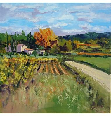 Autumn landscape near Bonnieux