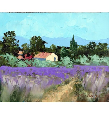 Landscape with lavender