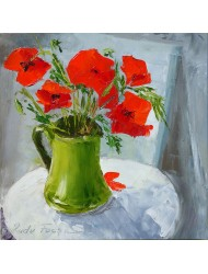 Poppies in a pitcher