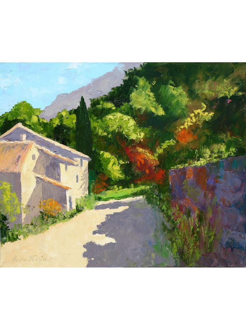 Achetez au pied du luberon paysage par radu focsa for Peinture du liberon