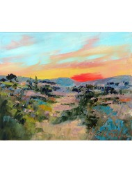 Sunset in the Luberon