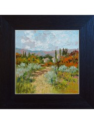 Paysage avec oliviers n°6