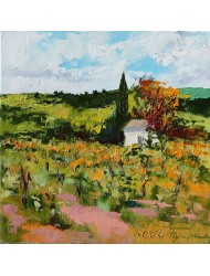 Landscape in autumn in Provence