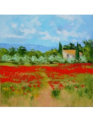 Landscape with poppies