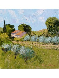 Paysage avec oliviers N°2