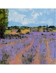 Landscape with lavender N°2