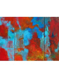 Abstraction MATIERE Triptych 90 x 130 cm