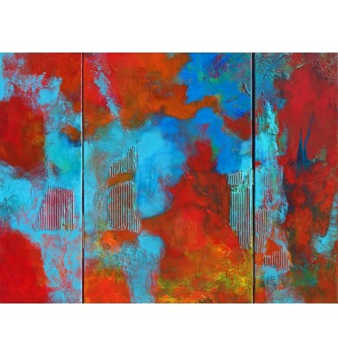Abstraction Triptych 90 x 130 cm