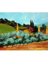 Paysage avec oliviers