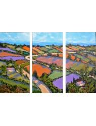 Patchwork Landscape - Triptic