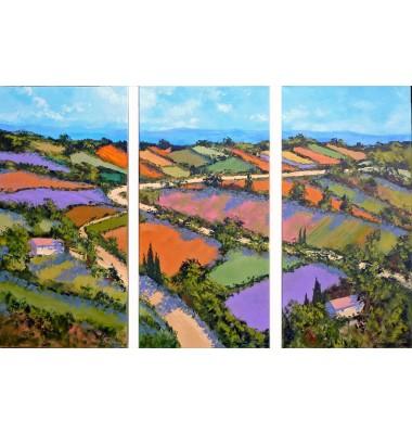 Patchwork Landscape - Triptych