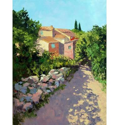 Allée ombragée à Roussillon