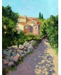 Shady alley in Roussillon