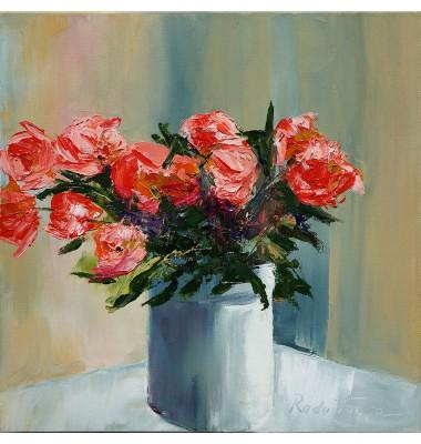 Red roses in a vase n°2