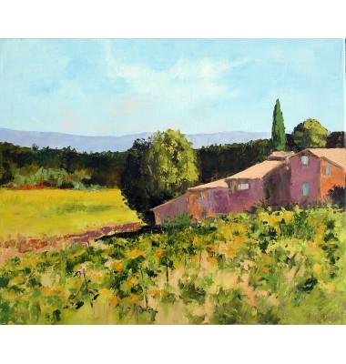 Farm and vineyard in September