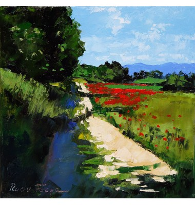 Landscape with poppies N°2