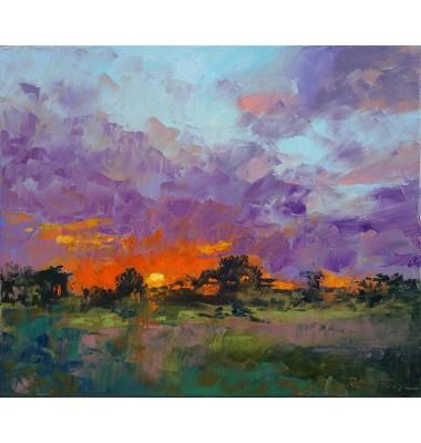 Autumn sunset in Provence