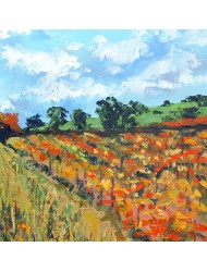 Fall lanscape with vineyard 2