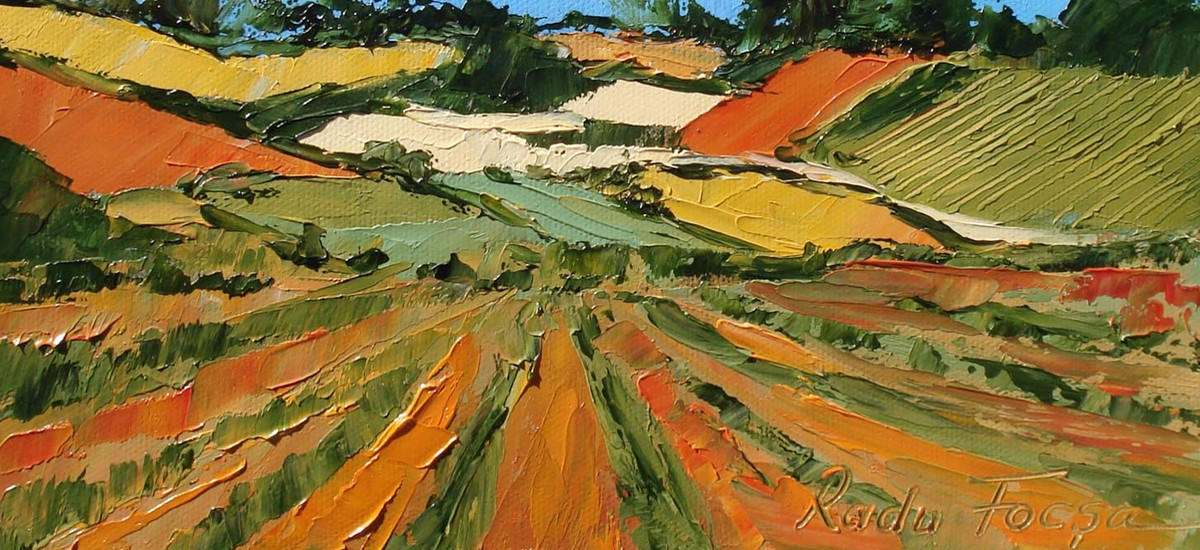 Peinture de paysage à l'huile au couteau - Paysages de Provence. Peinture de nu avec modèle vivant.